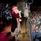 Santa switches on last year's Christmas lights in Fitzwilliam Square