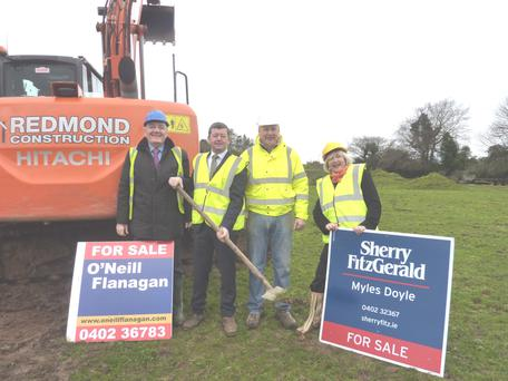 Agents Breda Bermingham Roberts and Pat O'Neill, Cllr Pat Kennedy and developer Paddy Redmond.