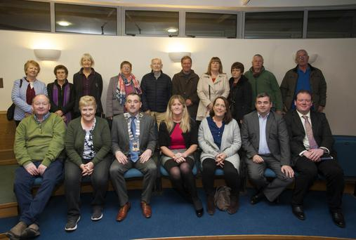 Wicklow and District Municipal District make presentations of Estate Development grants to resident groups at Vartry Heights, Ballinalea, Carrig Court, Mountain View, Sycamore Drive, Gleann Chill and BBH group at Co Buildings, Wicklow.