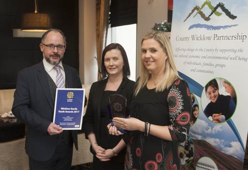 Brian Carty, Wicklow County partnership, Marianne Fox, Arklow Bay Hotel and Garda JLO Emma Skinner.