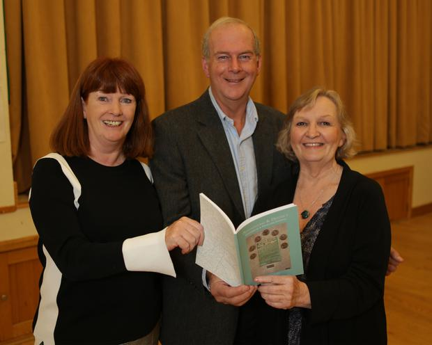 At the launch of the Roundwood and District Historical and Folklore Journal in the Parish Hall: Mary Slattery, PRO; David Menzies, Secretary; and Chairperson Imelda Conway-Duffy.