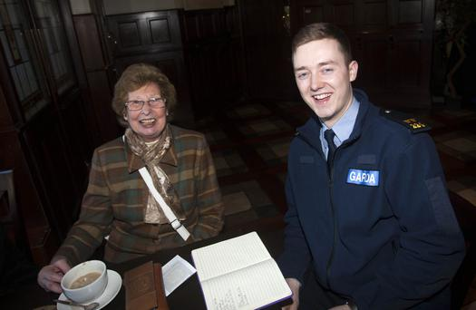 Phyllis White and Garda Tadgh O'Connor.
