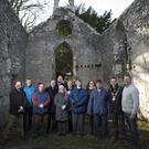 At the reopening of Kilmurray Church in Newtownmountkennedy after stabilisation works were Huw O'Toole supervising architect; Fr John Daly; Fr Sean Smith; Cllr Daire Nolan; Sylvia O'Toole; Robert Byrne; Therese Hicks, historical researcher; Deirdre Burns, Wicklow Heritage Officer; Cllr Shay Cullen; Marie O'Neill and Paul Kavanagh.
