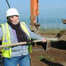 The late Cllr Pat Kavanagh getting stuck in during the construction of the skate park at the Murrough in Wicklow town.