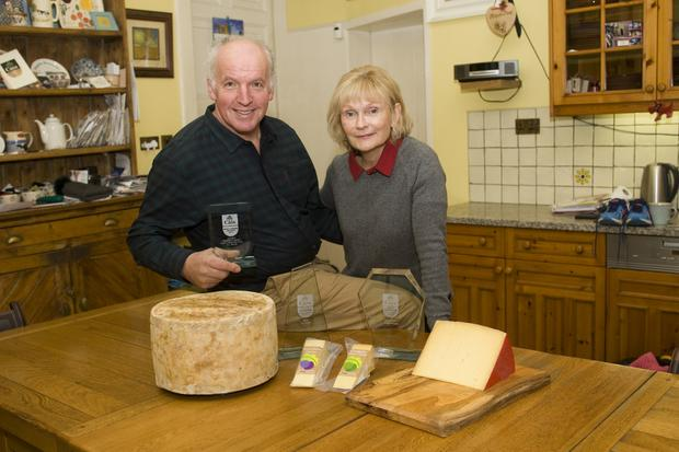 Tom and Fiona Burgess of Coolattin Cheddar and Mount Leinster cheese