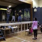 Members of Roundwood Variety Group in rehearsals for their production of 'Beauty and the Beast' later this month