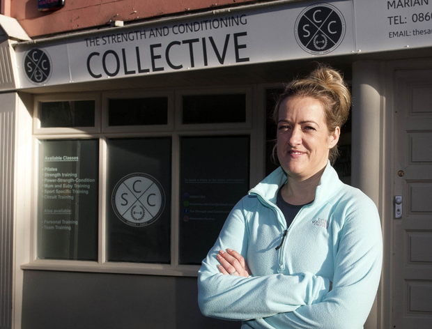 Marian Earls, former Head of Fitness for the Ireland women's rugby team, outside her new venture 'The Strength and Conditioning Collective' in Wicklow town.