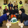 Una Kelly, John Summers, Brian Higgins, Joanne McDonald, Denise Guilfoyle, Bernie Breen, Amanda Bradley, Charlotte Wolohan, Jackie Keogh and Vicky O'Leary from Arklow Community First Responders at a training session