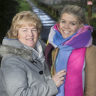 Peggy Kearney and Tara Power from St Catherine's who have been making good use of the newly accessible walks