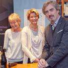 Sebastian Barry, the Laureate for Irish Fiction 2018-2021, with Hilary and Joanna Hamilton of Bridge Street Books