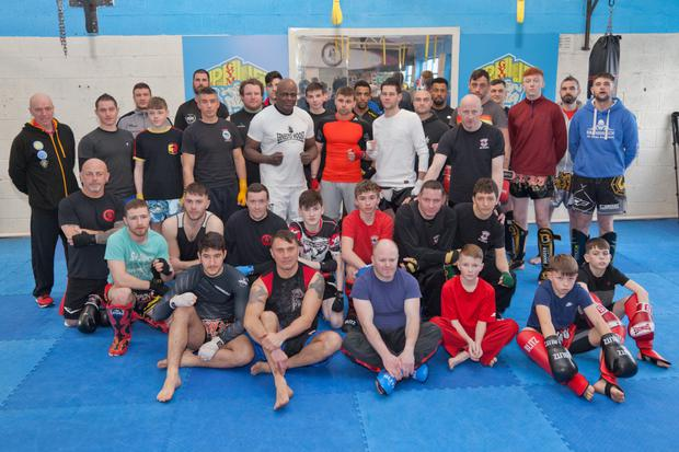 Dutch kickboxing legend Ernesto Hoost at the Uplift Gym kickboxing seminar in Wicklow town.