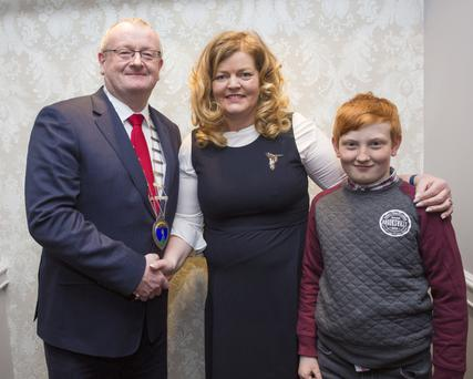 New President of Wicklow and District Chamber Robin Bradley with outgoing president Dianna Sheridan and Killian Bradley.