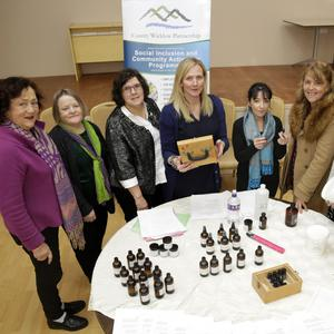 Eilleen Brassington, Joanna Baird, Annette Morley, holistic therapist Antoinette Kavanagh, Trish Curran, Barbara Reid, Anna Quigley, Dolores Goucher, community rep with the East Coast Regional Drugs Taskforce, at the event last Thursday in Rathnew