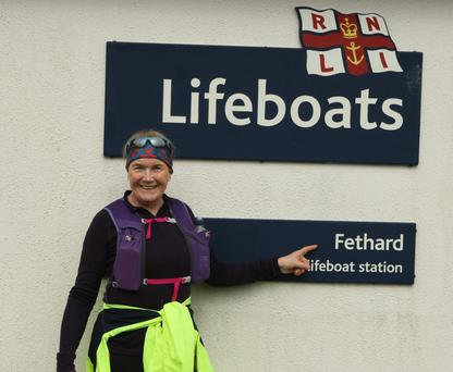 Mary Nolan Hickey at Fethard Lifeboat Station in Co Wexford on Saturday morning