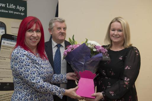 Dionne Dixon, Baltinglass Municipal District cathaoirleach Vincent Blake and Susan Nichols