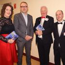 Lorna Doran McEvoy, Laoughlin Deegan, who opened the festival; chairman Eamonn Doran, Kieran Tyrrell and Mary Doran at the opening of theAll-Ireland Confined Drama finals in Carnew