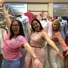 Cathy Macken, Kiera Broe, Cathy Kelly and Dr Ciara Kelly at the wardrobe fitting ahead of the fashion show on Wednesday, May 23, in Newtownmountkennedy