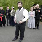 Declan Vincent Ryan as Anton Chekov with (from left) Sandra Mullen, Kate Delaney Dowling, Andrew Scales, Colm Kearns, Charlotte Keating, Deirdre Malone, Paul Conlon and Pat Malone