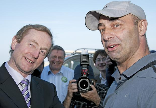 Pete Taylor with Enda Kenny in 2012
