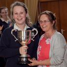 Student of the Year Ailbhe Dowling with her year head, Kathryn Fox