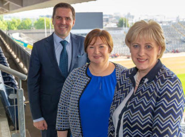 Martin Shanahan, CEO of IDA Ireland, Marian Roberts, General Manager of Conductix Wampfler of Baltinglass and Minister for Business, Enterprise and Innovation Heather Humphreys TD