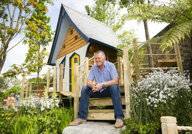 Peter O'Brien in his Enchanted Wood garden, which won Best Small Garden