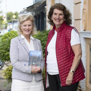 Beatrice Aird O'Hanlon launching her book The Treacle Sea And Other Stories at Greystones Library with Kathleen Kelleher