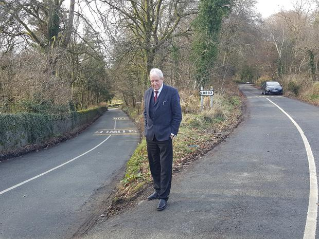 Cllr Gerry O'Neill beside the notorious 'The Branch' junction.