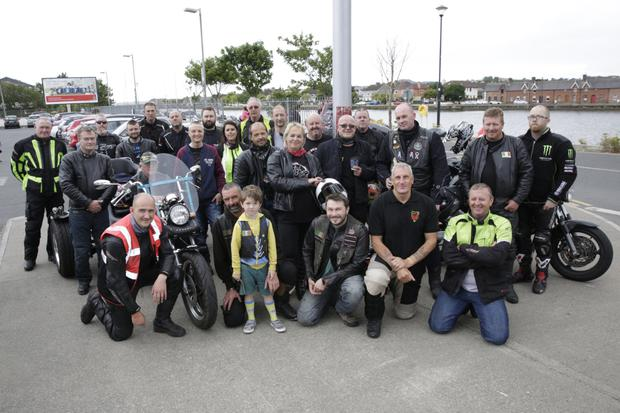 The Warg Riders Motorcycle Club getting ready to set off on their third Bikers Against Suicide ride from the Bridgewater Shopping Centre on Sunday