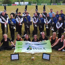 Members of the Inbhear Mór Performance Ensemble,the new All Ireland Marching Band Champions