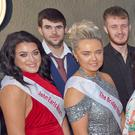 The 2018 RNLI Arklow Maritime Festival, Queen Katie Hawthorne (front, left), with the other contestants – Olivia McGeary, Stephanie Redmond, Zara Lambert, Sarah Kelly, Anna Paul, Lindsey Meyer and Sinead McMahon – and their escorts at the selection night