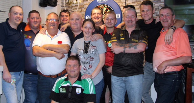 John Brock, John O'Hara, Robbie Kelly, Din Keogh, Stephen Byrne, Gemma Kerons,David O'Neill, Gordon Moules, William O'Toole, Niall O'Leary, Dennis Kenna, Nicky Kenna and pro darts player Dimitri Vanden Bergh