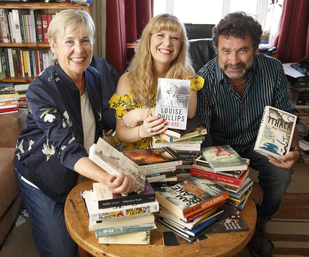 Founder Tanya Farrelly (centre) with authors and committee members Liz McManus and David Butler