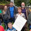 Avoca residents and supporters protest against the removal of Avoca Playgroup from the local hall
