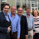 Minister Simon Harris, Ciaràn Lally, Dave Shannon and Joe Neil and from the East Coast Greenway committee and Cllr Irene Winters