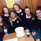 Nikita Moorehouse, Heather Mcinerney, Hannah Byrne, Katie O'Sullivan, Holly Goulding, Niamh Caffrey and Ellen Griffiths at the Dominican College Transition Year students' coffee morning for the hospice foundation. Photo by Paul Messitt