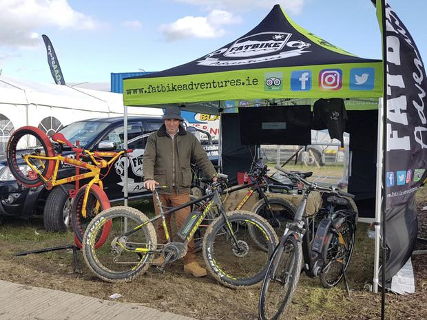 Ian Boltt of FatBike Adventures at the National Ploughing Championships.