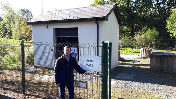 Cllr Pat Kennedy at Kirikee water plant.
