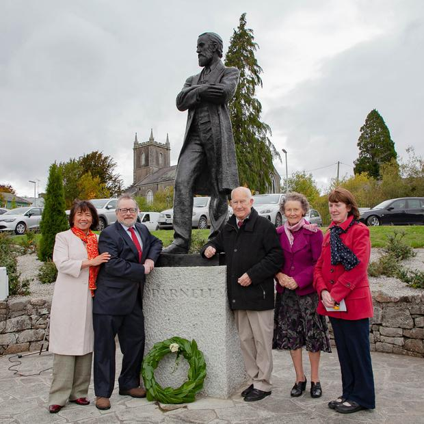 Linda and Michael Tierney with Jimmy and Joan Olohan and May Byrne at the Ivy Day celebrations at Parnell Memorial Park in Rathdrum