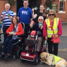 Participants in the 'Make Way Day' getting ready to highlight unnecessary obstacles in Bray
