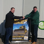 Brian Coogan presenting Keith Manning (right) with a picture of the front cover of Machinery Movers magazine, which featured Gaelic Plant Hire.