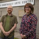 Filmmaker Terence White with Artistic Director Hannah Mullen at the Courthouse Arts Centre