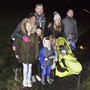 The Doyles and the O'Shaughnessys head off on the candlelit walk organised by Roundwood AFC by the reservoir. Photos: Barbara Flynn
