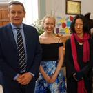 Bursary winner Lorna Breen, second from left, with Armed Forces School of Music director Lt Col Mark Armstrong, DCU lecturer in contemporary music Izumi Kimura and Wicklow Male Voice Choir musical director Tony Norton