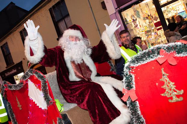 Santa arrives to switch on the Christmas lights