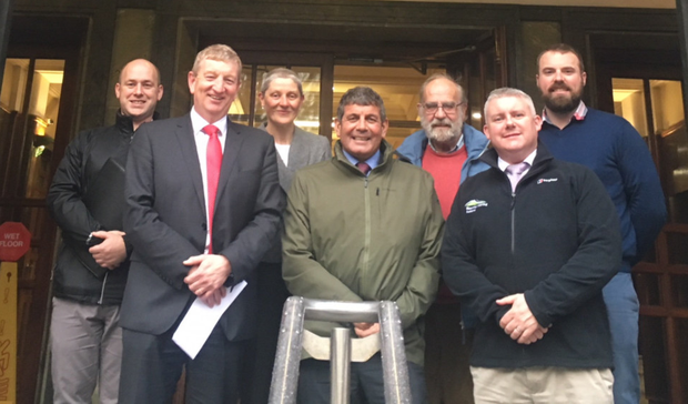 Some of the shareholders who attended the meeting with Minister Josepha Madigan