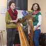 Rosie Carter and Caroline Hill at 'Our Wicklow Heritage: Sharing Our Stories' in the Brockagh Resource Centre in Laragh