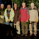 (From left) Neville Caine, Pat Kerr, Seamus Parle, Denis Hipwell, Noel Heatley, Peter Byrne, Tom Mulvihill, President of Wicklow Rotary, Liam Leonard, Brian O'Leary and Michael J. Connolly at the Remembrance Tree