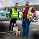 Ben Nugent and his dad John with one of their training Cessna 150s