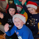 Some of the younger members of Wicklow Tennis Club enjoying the Junior Christmas Party
